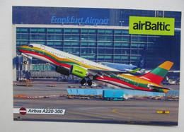 Germany Frankfurt Airport AirBaltic Airbus A220 Modern PC - Aeródromos