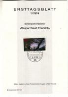 Allemagne - République Fédérale - Document FDC De 1974 ° - Oblit Bonn - Arbres - Peinture - - Brieven En Documenten