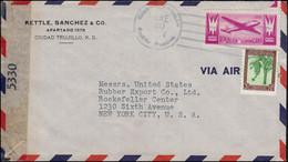 Zensurpost 5330 Dominikanische Republik Bf. Ciudad Trujillo 20.6.1944 In Die USA - Ohne Zuordnung