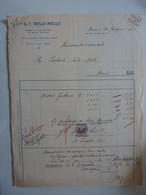 """Fattura """"F.lli G.C. DALLE MOLLE Fabbrica Ed Importazione Di Articoli Elettrici ROMA"""" 1910 - Visiting Cards"""