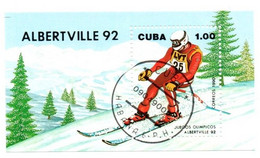 Bloc JO Albertville 1992 - Cuba - Ski - Invierno 1992: Albertville