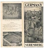Dépliant Touristique NUREMBERG GERMANY (Dépliant En Anglais) - Dépliants Turistici