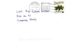 SINGAPOUR. N°846 De 1998 Sur Enveloppe Ayant Circulé. Pentaceratops. - Preistorici