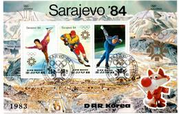 2 Bloc JO Sarajevo 1984 - Ski Patinage Hockey - Guiné Bissau & DPRK Korea - Invierno 1984: Sarajevo
