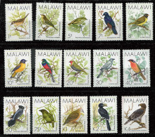 Malawi **  N° 513 à 527 - Série Courante. Oiseaux - Malawi (1964-...)