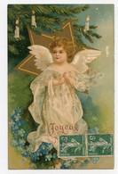 Joyeux Noël.ange Blanc,sapin ,bougies. - Otros