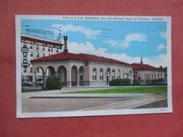 C.B.& Q. Bus & Railroad Depot   Cheyenne  Wyoming > Cheyenne      Ref 5225 - Cheyenne