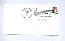 Lettre Cachet  Omaha Musique - Postal History