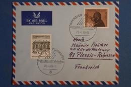 AD15 ALLEMAGNE  BELLE LETTRE   1968 HANOVRE POUR LE PLESSIS FRANCE  + + AFFR . PLAISANT - Briefe U. Dokumente