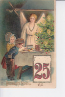 CP 1906  :  Un Ange Avec Des Jeunes Enfants Recevant De La Nourriture ( En Relief ) - Otros