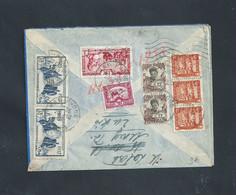 ANCIENNE LETTRE DE L INDOCHINE DE 1938 SUR TIMBRES OB HAIPHONG : - Storia Postale