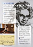 Document A4 émis à L'occasion Du 250e Anniversaire De Ludwig Van Beethoven - Allemagne Fédérale 2020 - FDC: Bögen