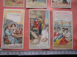 18 Serie 1-18, Chromo Litho C1900 PUB CHOColat  D'Aiguebelle DENTELLE ( Kant, Spitze, Lace ) 5,6cmX10,5cm,  Very Good, - Aiguebelle