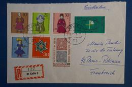 AD15 ALLEMAGNE  BELLE LETTRE  RECOM.  1968 LA CELLE  POUR LE PLESSIS FRANCE  + AFFRANCH . PLAISANT - Briefe U. Dokumente