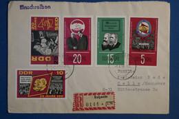 AD15 ALLEMAGNE  BELLE LETTRE RECOM.   1968  ROSWEIL POUR LA CELLE   + VIGNETTE + AFFR .  INTERESSANT - Briefe U. Dokumente