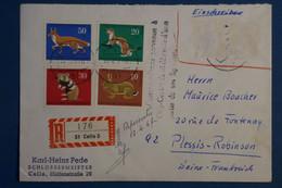 AD15 ALLEMAGNE  BELLE LETTRE RECOM.   1967   LA CELLE  POUR LE PLESSIS FRANCE  +   + AFFR . PLAISANT - Briefe U. Dokumente