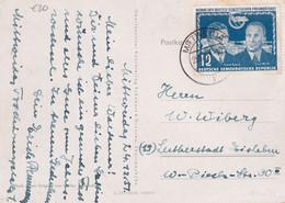 DDR 1951 CARTE DE MITTWEIDA - Briefe U. Dokumente