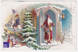 Rare CPA Illustrateur 1905 Suède Sweden PC God Jul Père Noël Santa Claus Christmas Jouet Toy Doll Poupée Hiver A59-55 - Santa Claus