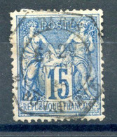 France N°90 - TAD Levée Exceptionnelle 1885 - (F945) - 1876-1898 Sage (Tipo II)