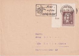 DDR 1952 CARTE DE HALLE - Briefe U. Dokumente