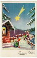 BUON NATALE - BAMBINI - 1958 - Formato Piccolo - Vedi Retro - Santa Claus