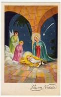 BUON NATALE - NATIVITA' CON ANGELI - 1961 - Formato Piccolo - Vedi Retro - Santa Claus
