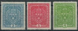 AUTRICHE - Année 1916-18 - Y & T N° 158b-159b-160b * Charnière Très Légère - Unused Stamps