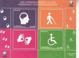 2018 Paraguay International Day Of The Disabled Hearing Sight  Souvenir Sheet  MNH - Paraguay