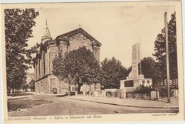 Decazeville- Eglise Et Monument Aux Morts - (E.8121) - Decazeville