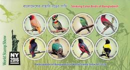 2016 Bangladesh NY2016 Birds Oiseaux PERF Souvenir Sheet MNH - Bangladesh
