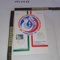 PP136 LOCANDINA FIRENZE 1981 TIMBRO ANNULLO 20'' CAMPIONATO ITALIANO ORNITOLOGICO 1'' MOSTRA FILATELICA UCCELLI - 1981-90: Storia Postale