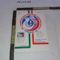 PP137 LOCANDINA FIRENZE 1981 TIMBRO ANNULLO 20'' CAMPIONATO ITALIANO ORNITOLOGICO 1'' MOSTRA FILATELICA UCCELLI - 1981-90: Storia Postale