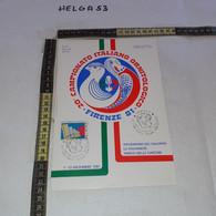 PP138 LOCANDINA FIRENZE 1981 TIMBRO ANNULLO 20'' CAMPIONATO ITALIANO ORNITOLOGICO 1'' MOSTRA FILATELICA UCCELLI - 1981-90: Storia Postale