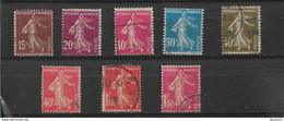 FRANCE   N° 189/196     OBLITERES - 1906-38 Sower - Cameo
