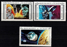 Tchad Space 1971 Peace And Science, Apollo 11 And John Kennedy. - Tsjaad (1960-...)