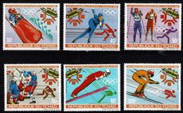 Tchad Space 1983 Sport, Sarajevo Olympic Games And Intelsat 4 Satellite. Full Set - Tsjaad (1960-...)