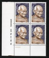 TP MAHATMA GANDHI 1869-1948 - COIN DATE DE 4 - 06/08/2019 - NEUF - NON PLIE - 2010-....