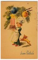 BUON NATALE - BAMBINO PASTICCIERE - 1958 - Formato Piccolo - Vedi Retro - Santa Claus