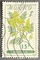 MCO0516U -  Flowers - Mimosa - 15 F Surcharge On 1 F Used Stamp - Monaco - 1959 - Gebruikt