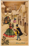 BUON NATALE - COPPIA - 1959 - Formato Piccolo - Vedi Retro - Santa Claus