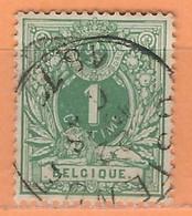 """COB  26  Oblitération Simple Cercle  """"OSTENDE"""" - 1869-1888 Lion Couché"""