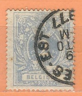 """COB  27c  Oblitération Simple Cercle """"BRUXELLES EST"""" - 1869-1888 Lion Couché"""
