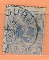 """COB  27c  Oblitération Simple Cercle """"TOURNAI"""" - 1869-1888 Lion Couché"""
