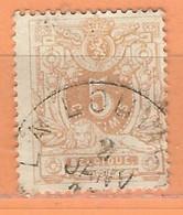 """COB  28a  Oblitération Simple Cercle  """"LA LOUVIERE"""" - 1869-1888 Lion Couché"""