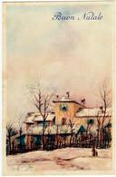 BUON NATALE - PAESAGGIO RURALE - Vedi Firma Dis. - 1954 - Formato Piccolo - Vedi Retro - Santa Claus