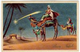 BUON NATALE - RE MAGI - Vedi Firma Dis. - 1957 - Formato Piccolo - Vedi Retro - Santa Claus