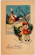 BUON NATALE - BAMBINI - 1957 - Formato Piccolo - Vedi Retro - Santa Claus
