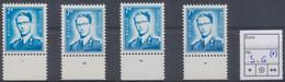 Lunettes (Type Marchand) - Lot De 4 X N°1575 (*) Sans Gomme + BDF Et N° De Planche (1 à 4) - ....-1960