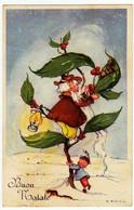 BUON NATALE - BAMBINI - ELFI -  Firmata G.BOSISIO - 1955 - Formato Piccolo - Vedi Retro - Santa Claus