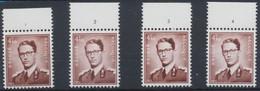 Lunettes (Type Marchand) - Lot De 4 X N°1068A** (MNH) + BDF Et N° De Planche (1 à 4) - ....-1960